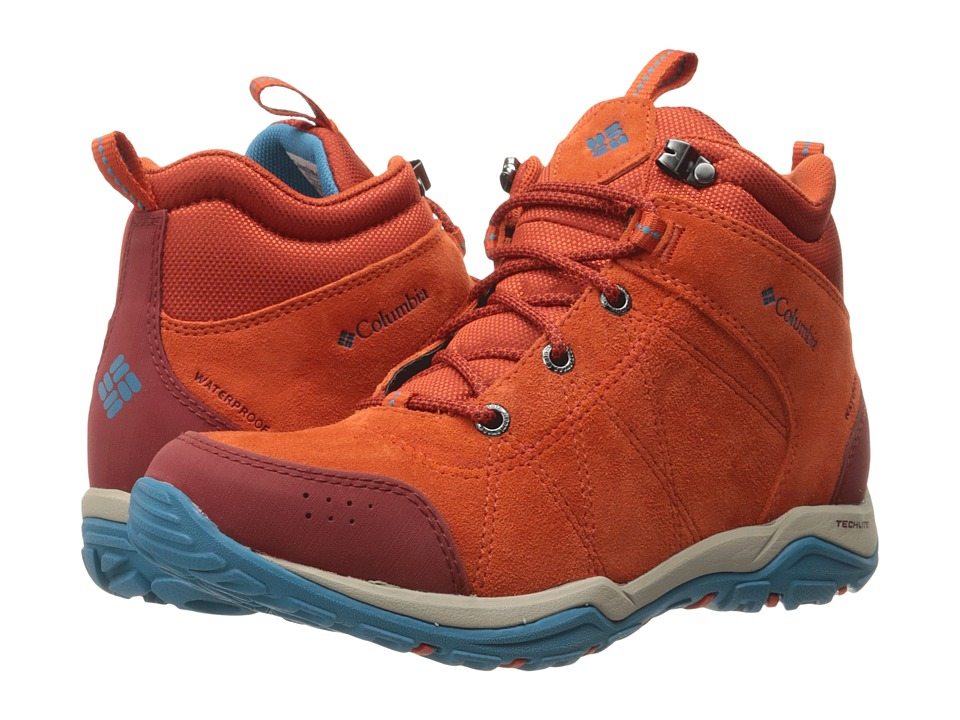 Columbia - Fire Venture Mid Waterproof (Bonfire/Oxide Blue) Women
