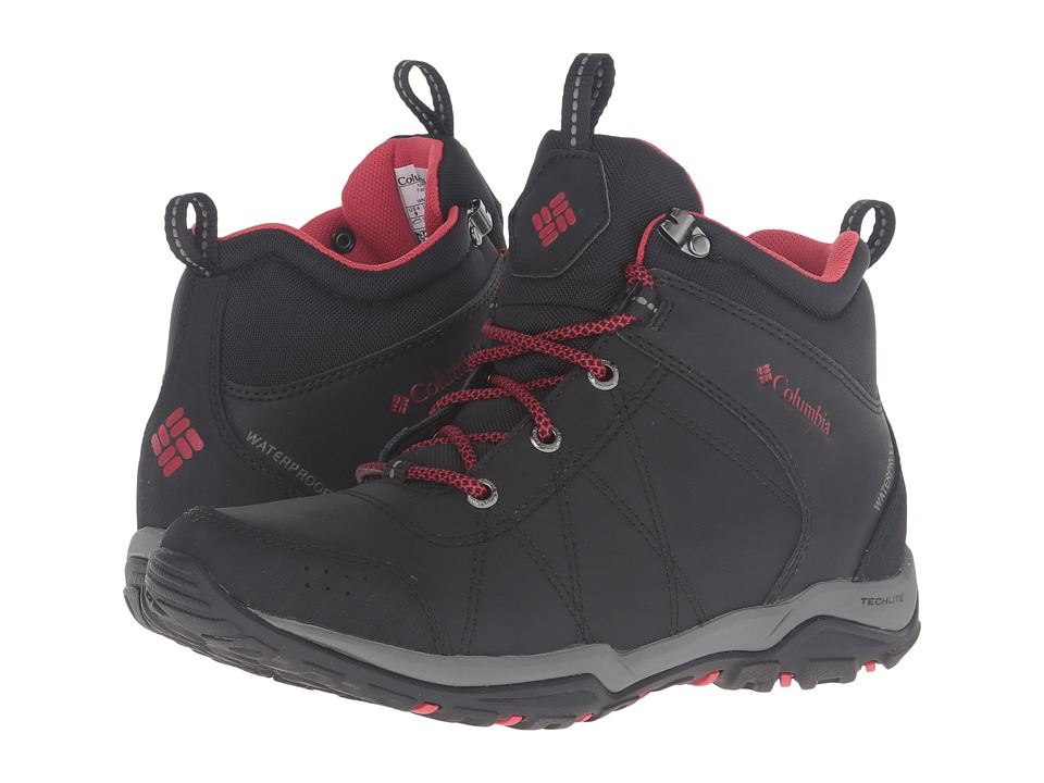 Columbia - Fire Venture Mid Waterproof (Black/Burnt Henna) Women