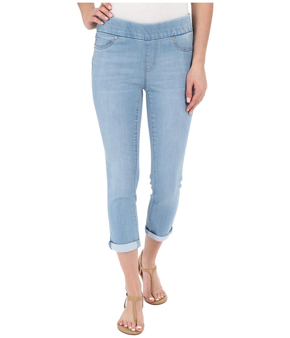 Liverpool Sienna Pull On Silky Soft Denim Capris in Delton Light Blue Delton Light Blue Womens Jeans
