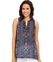 Dylan by True Grit - True Tribal Sleeveless Banded Collar Tunic Blouse