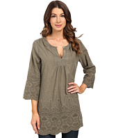 Dylan by True Grit - Mineral Washed Embroidery Tunic