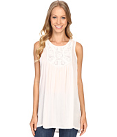 Dylan by True Grit - Dream Cotton Sleeveless Hi-Lo Tank Top w/ Crochet