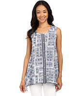 Dylan by True Grit - Mosaic Sleeveless w/ Embroidered Placket