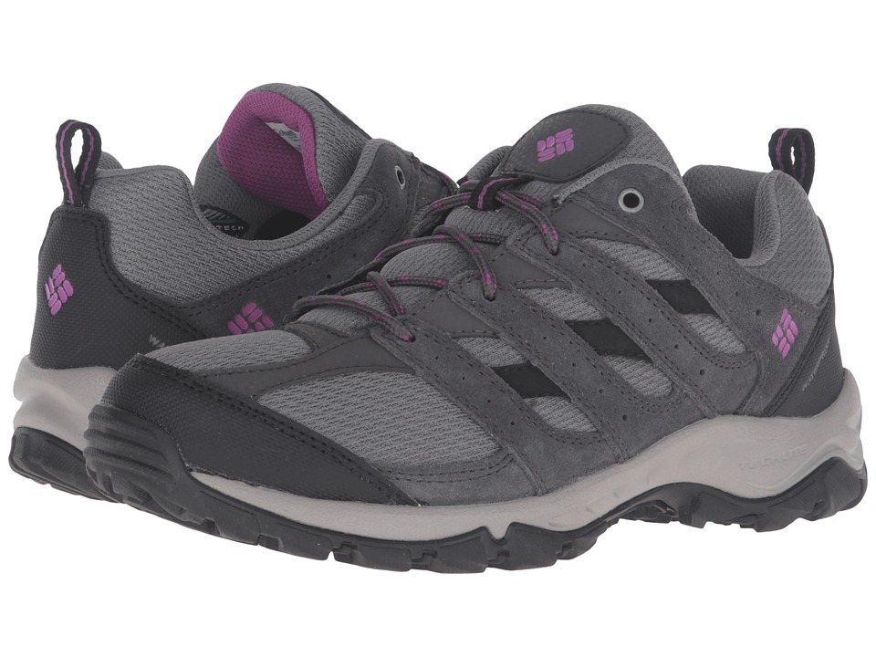 Columbia - Plains Butte Waterproof (Quarry/Intense Violet) Women