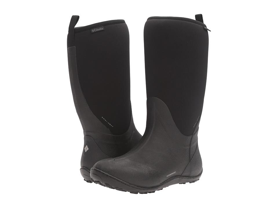 Columbia Snowpow Tall Omni-Heat (Black/Light Grey) Women's Shoes