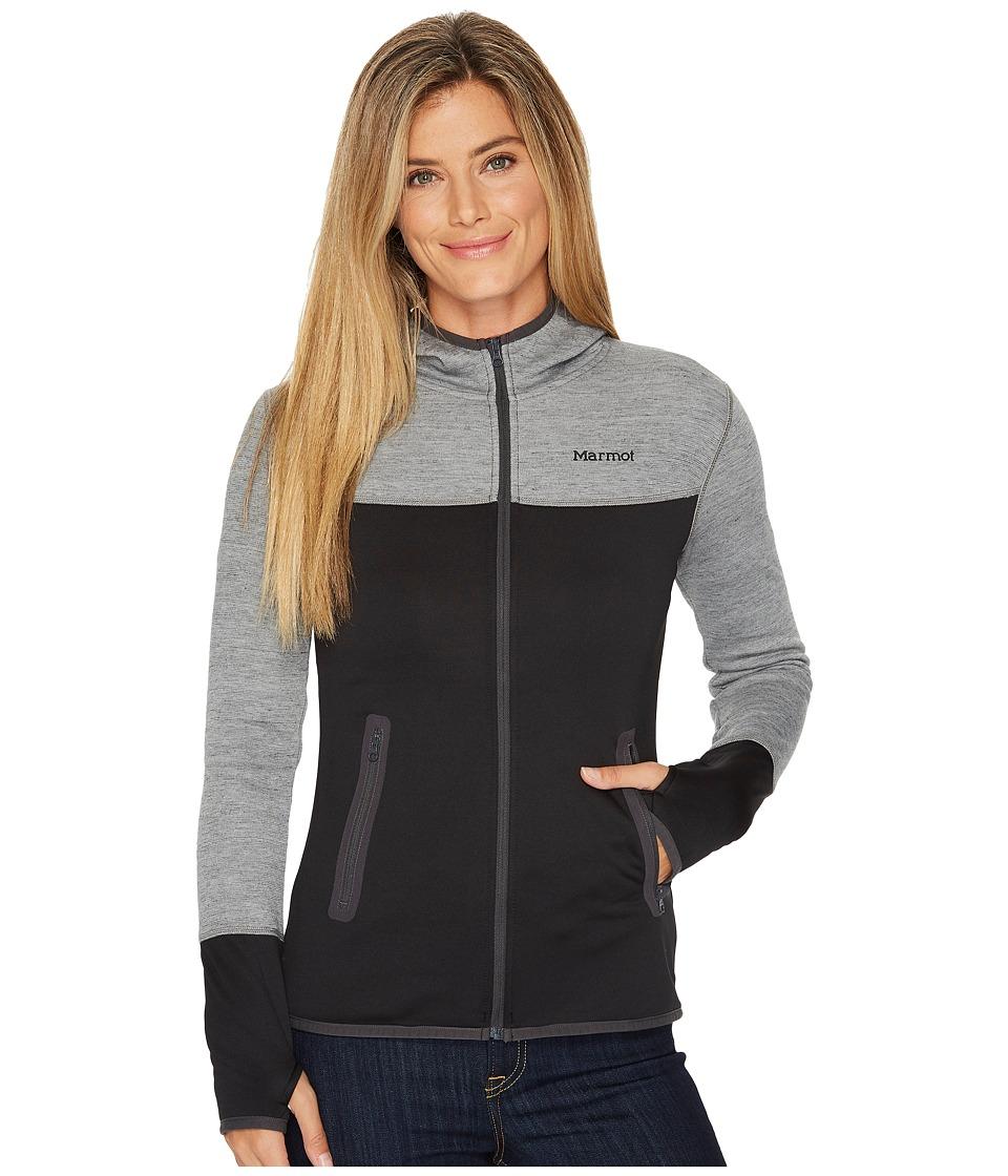 Marmot - Sirona Hoodie (Black/Dark Steel) Womens Sweatshirt
