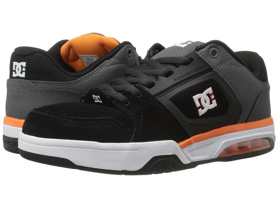 DC - Rival (Grey/Grey/Orange) Mens Skate Shoes