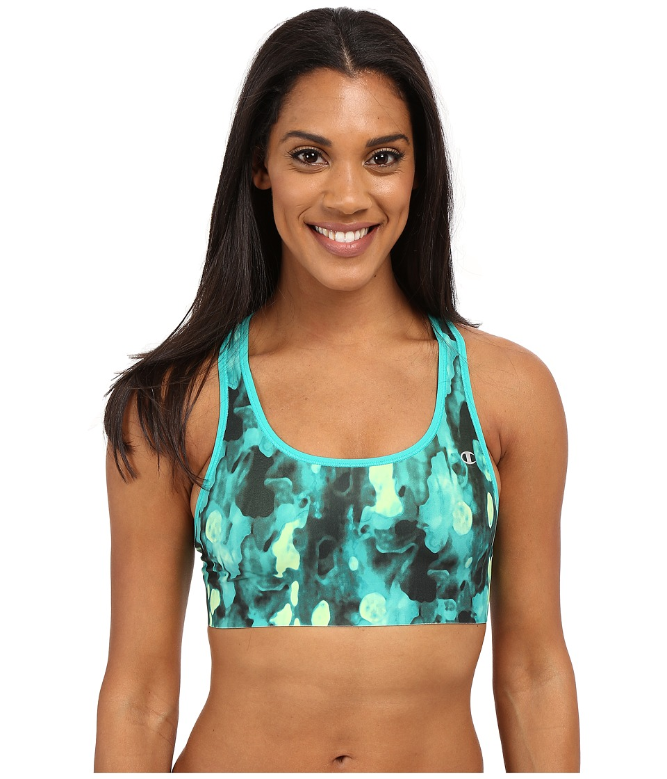 Champion Absolute Bra Humid Green Blur Bark/Humid Green Womens Bra