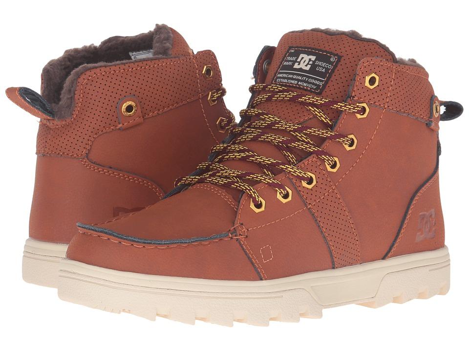 DC - Woodland (Burnt Henna/White) Mens Skate Shoes