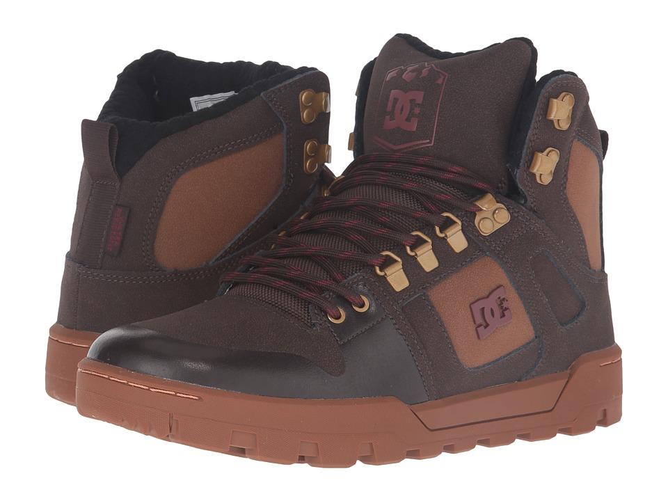 DC - Spartan High WR Boot (Brown/Brown/Red) Men
