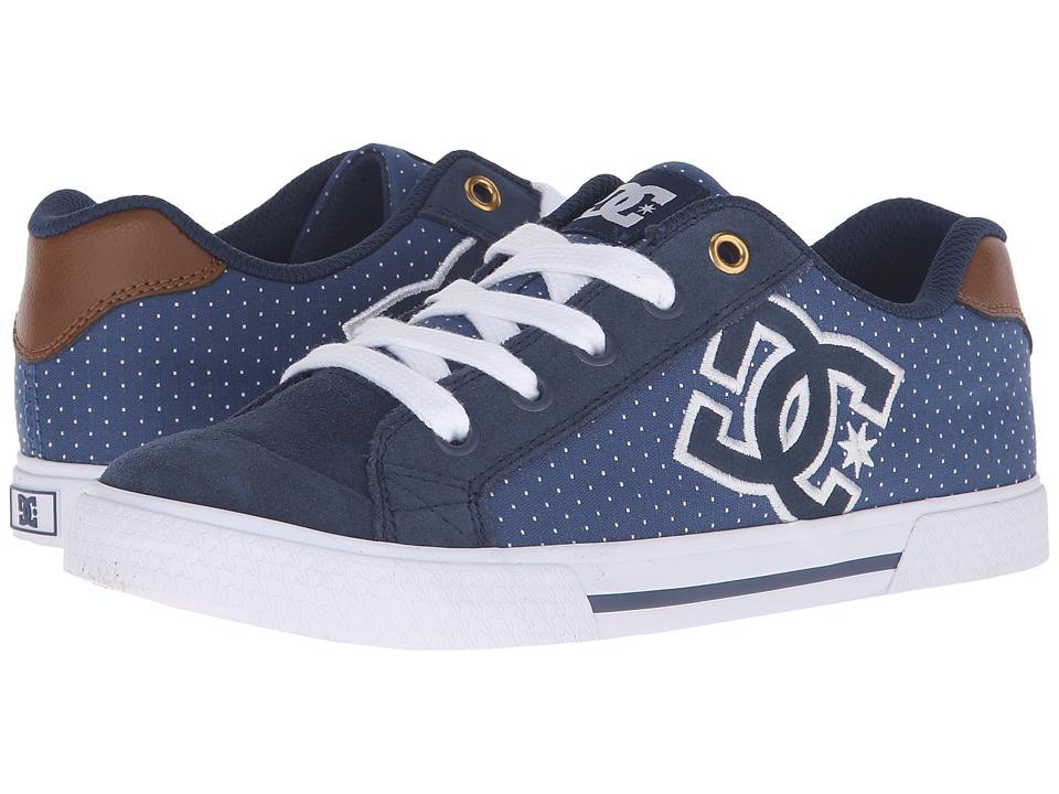 DC - Chelsea SE W (Blue/Brown/White) Womens Skate Shoes