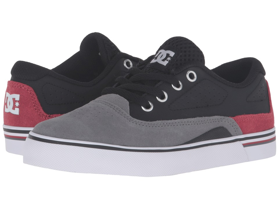 DC Kids - Sultan (Little Kid) (Grey/Black/Red) Boys Shoes