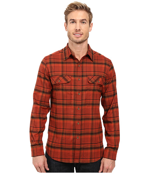 Royal Robbins Valley Performance Long Sleeve Plaid Shirt - Cedar