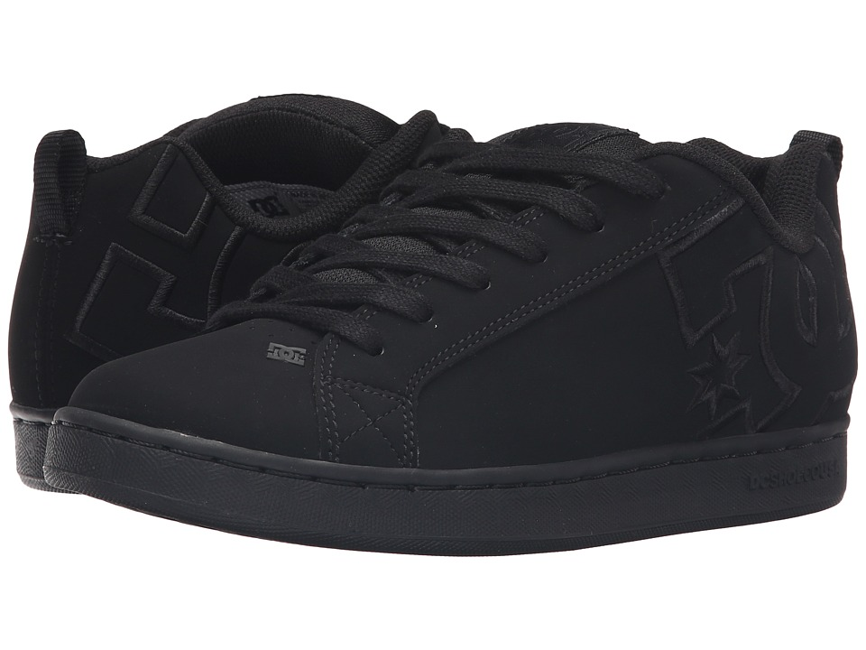 DC Court Graffik SE W (Black/Black/Black) Women's Skate Shoes