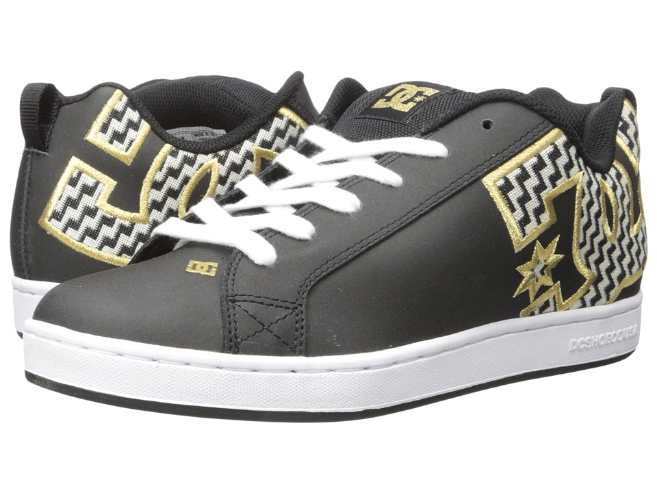 DC - Court Graffik SE W (Black/Gold) Womens Skate Shoes