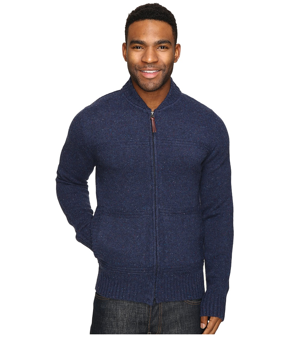 Royal Robbins First Fleet Merino Full Zip Sweater (Navy) Men