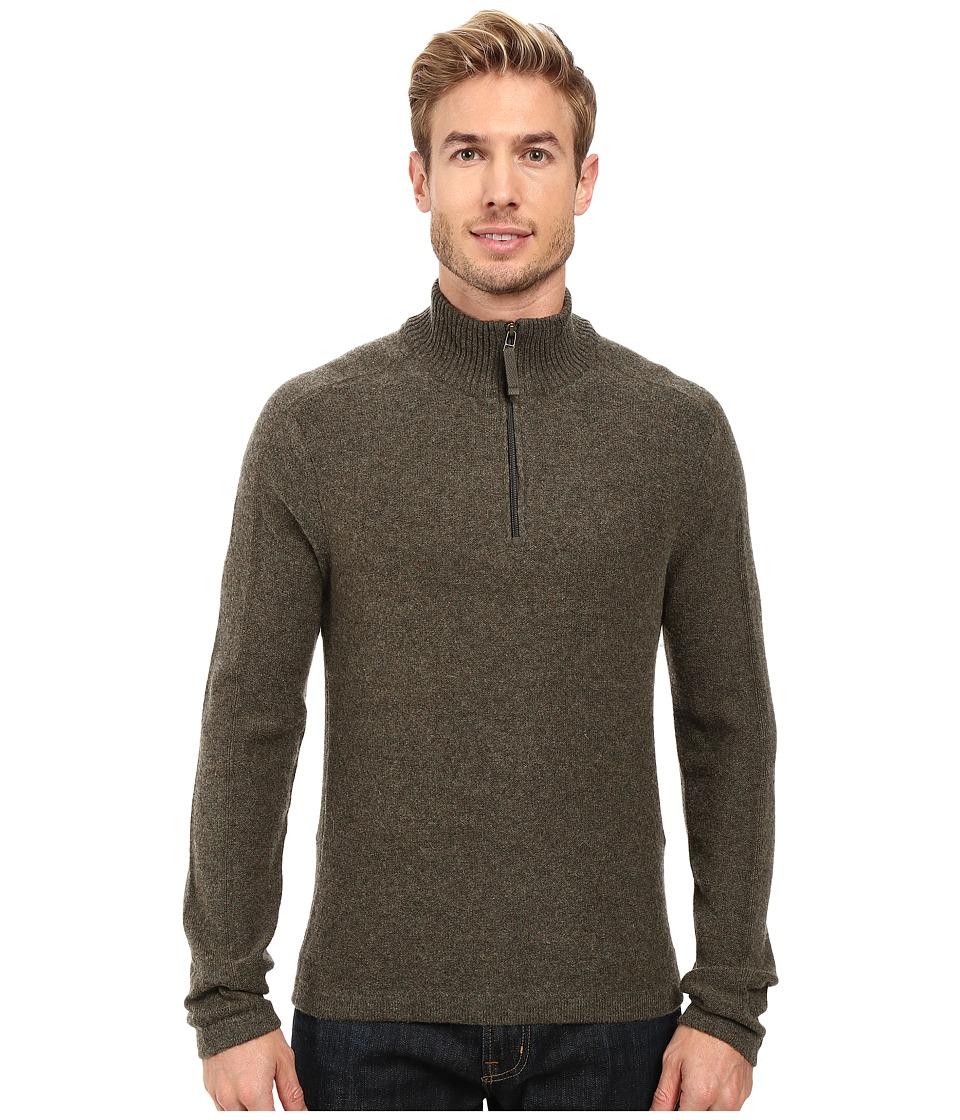 Royal Robbins - Fireside Wool 1/4 Zip Sweater (Dark Olive) Men