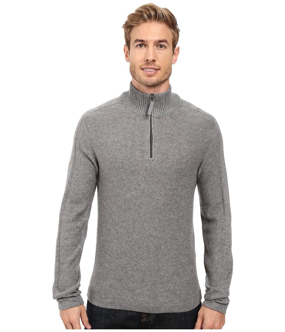 Royal Robbins - Fireside Wool 1/4 Zip Sweater (Pewter) Men