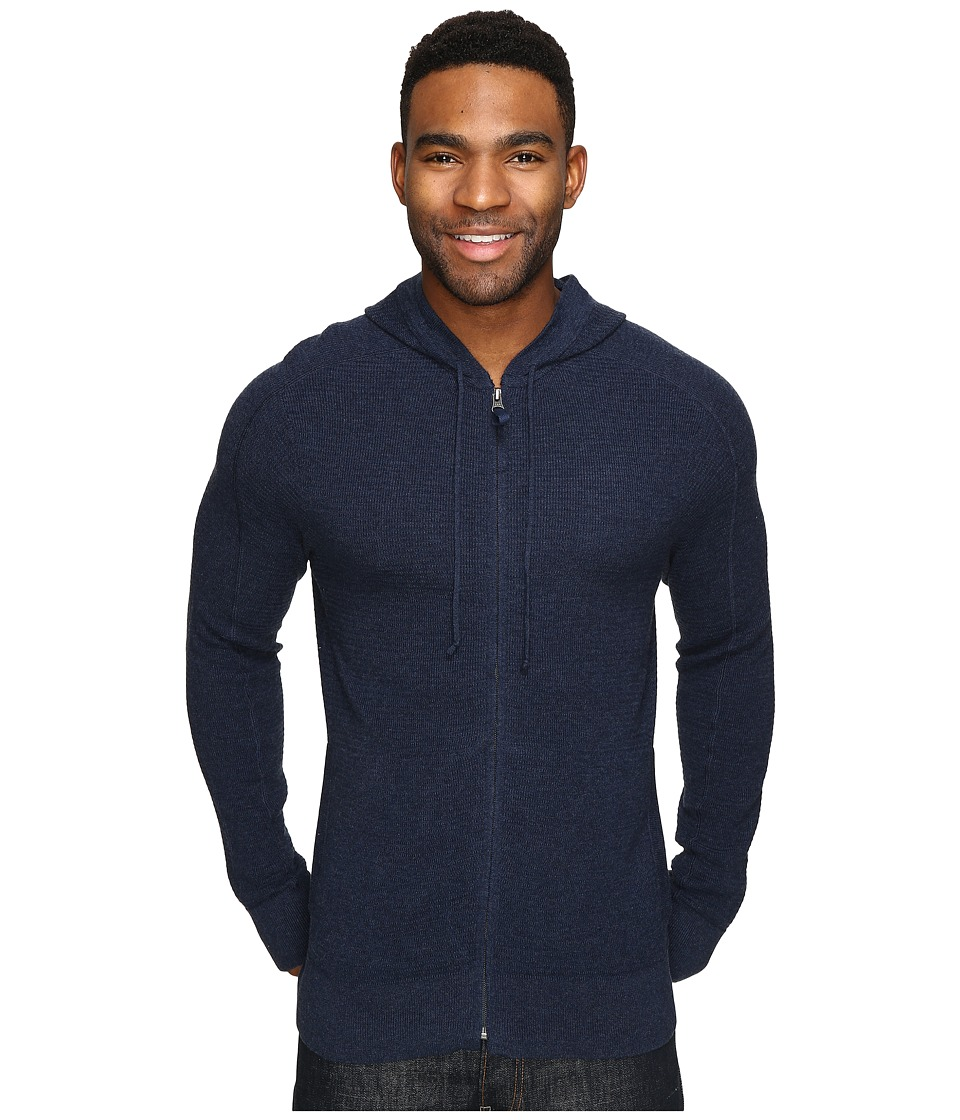 Royal Robbins All Season Merino Thermal Full Zip Hoodie (Navy) Men