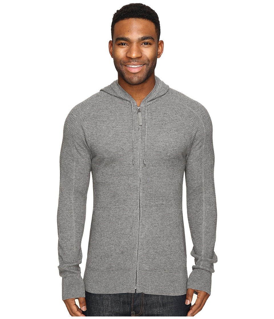Royal Robbins - All Season Merino Thermal Full Zip Hoodie (Pewter) Men