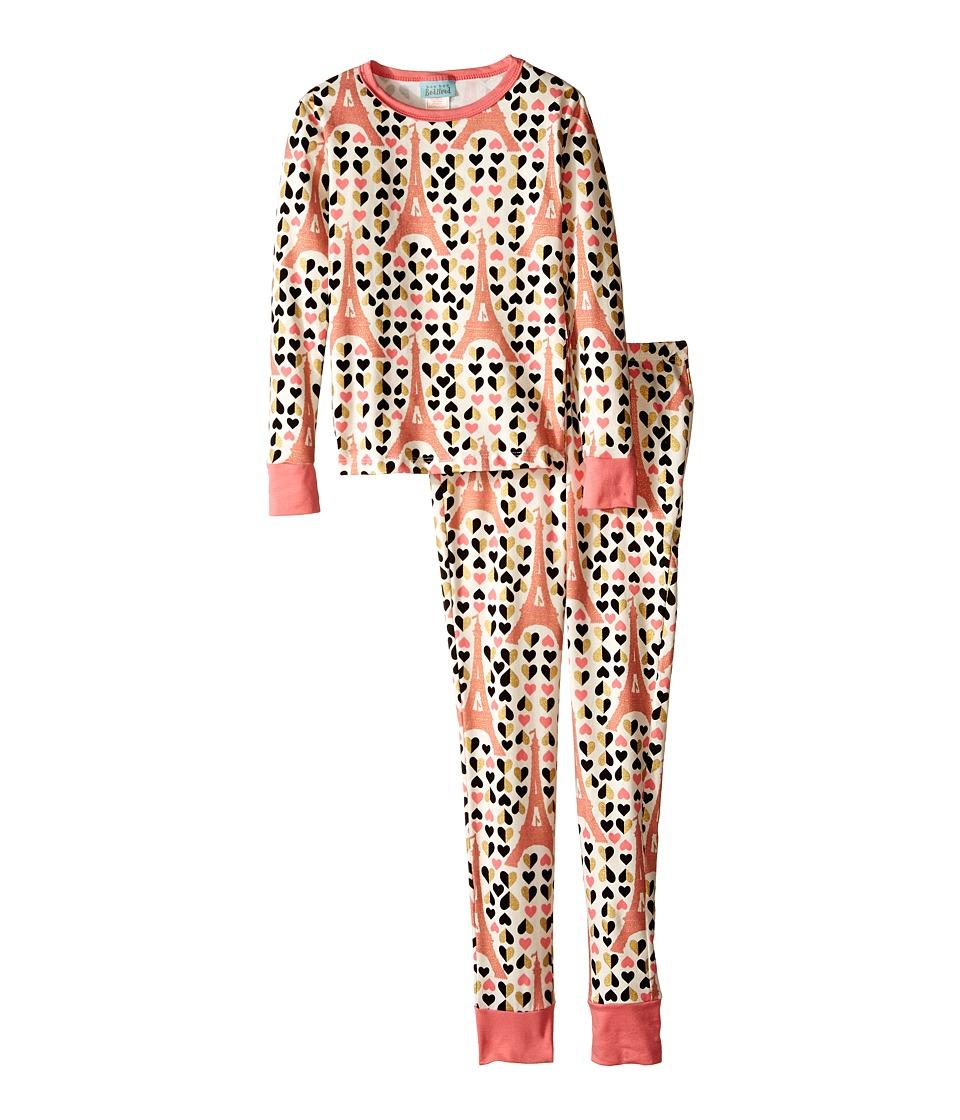 BedHead Kids Snug Fit L/S Classic PJ Big Kids Heart Eiffel Girls Pajama Sets