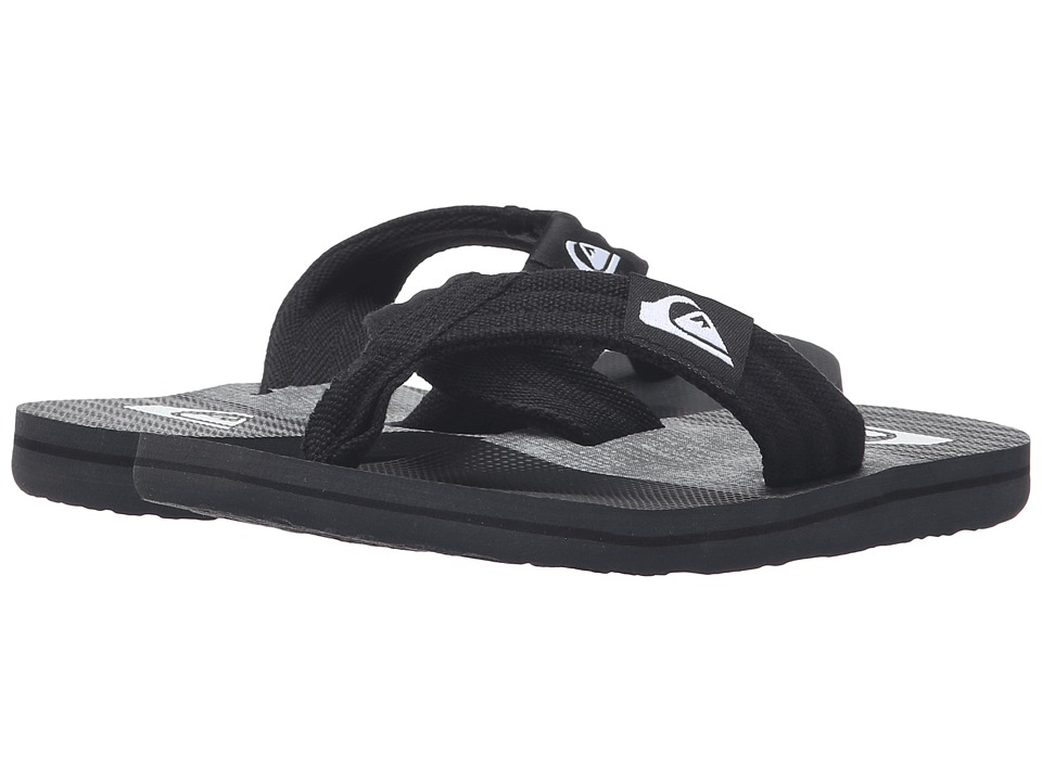 Quiksilver Kids - Molokai Layback (Toddler/Little Kid/Big Kid) (Grey/Black/Grey) Boys Shoes