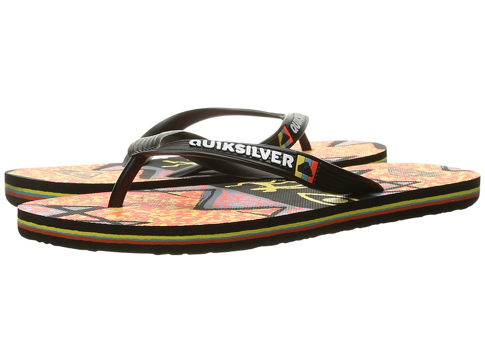 Quiksilver - Molokai Ghetto (Black/Orange/Orange) Men