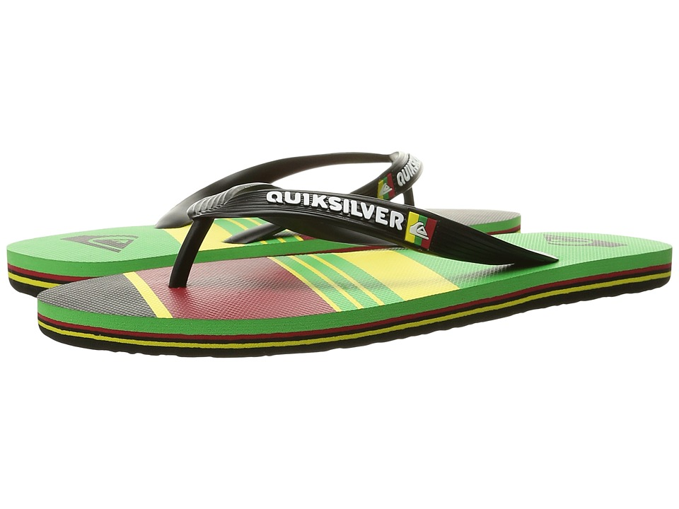 Quiksilver - Molokai Slash Remix (Black/Red/Green) Men