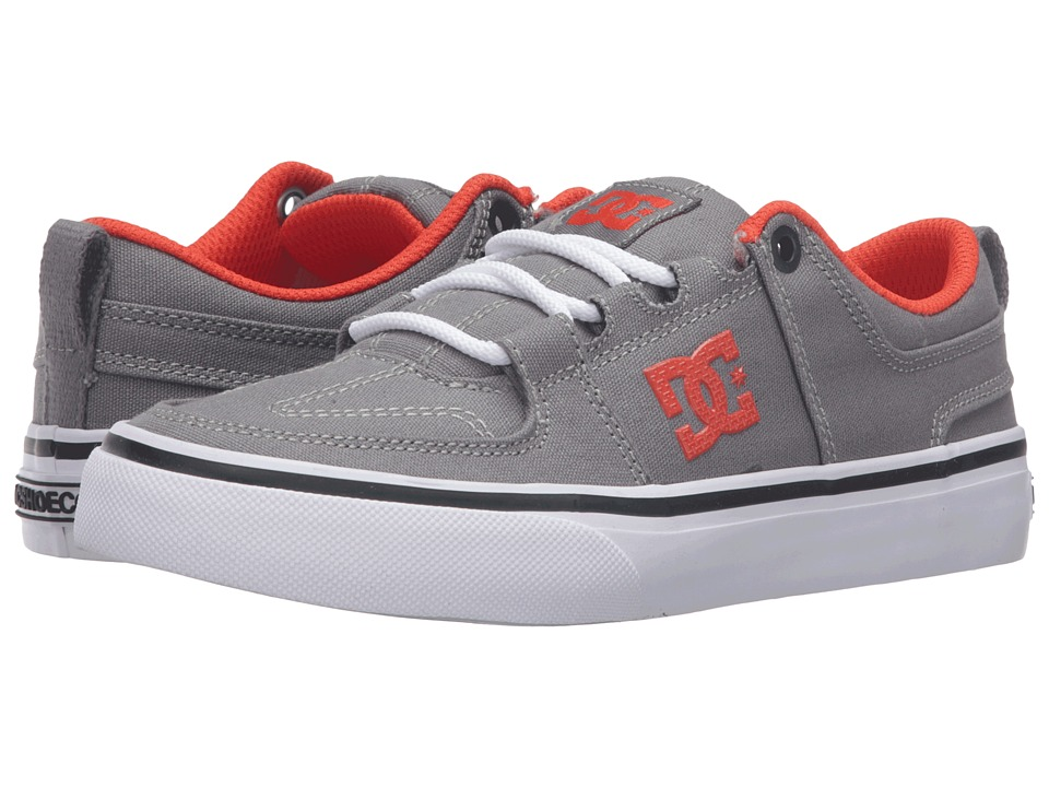 DC Kids - Lynx Vulc TX (Big Kid) (Grey/Orange) Kids Shoes