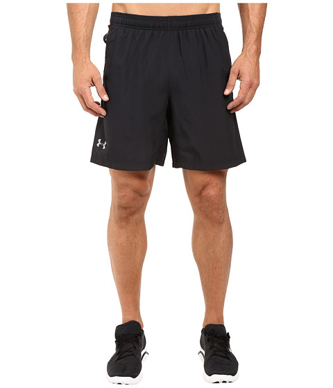 Under Armour UA Launch 2-In-1 Shorts - Black/Black/Reflective