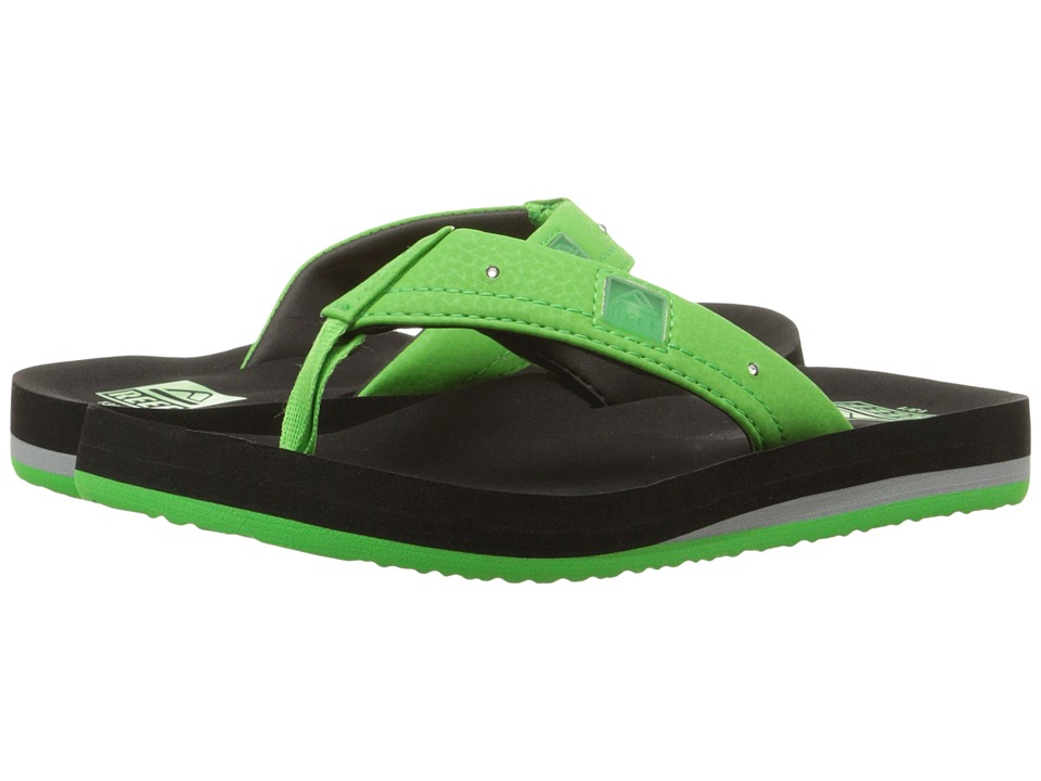 Reef Kids - Ahi Lights (Infant/Toddler/Little Kid/Big Kid) (Black/Green) Boys Shoes