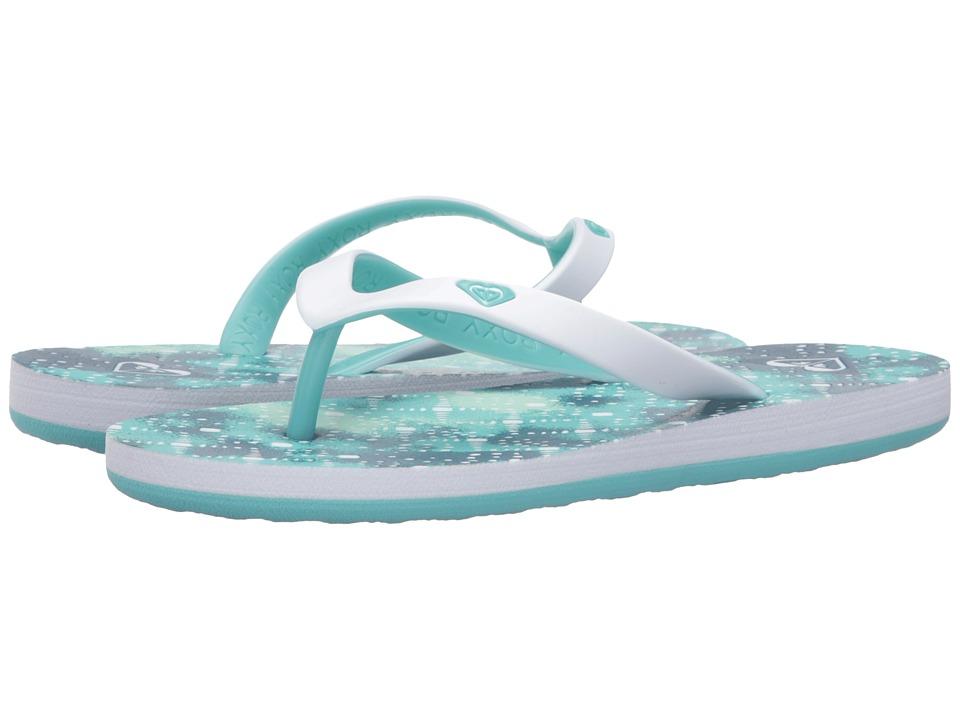 Roxy Kids Tahiti V (Little Kid/Big Kid) (Teal) Girls Shoes