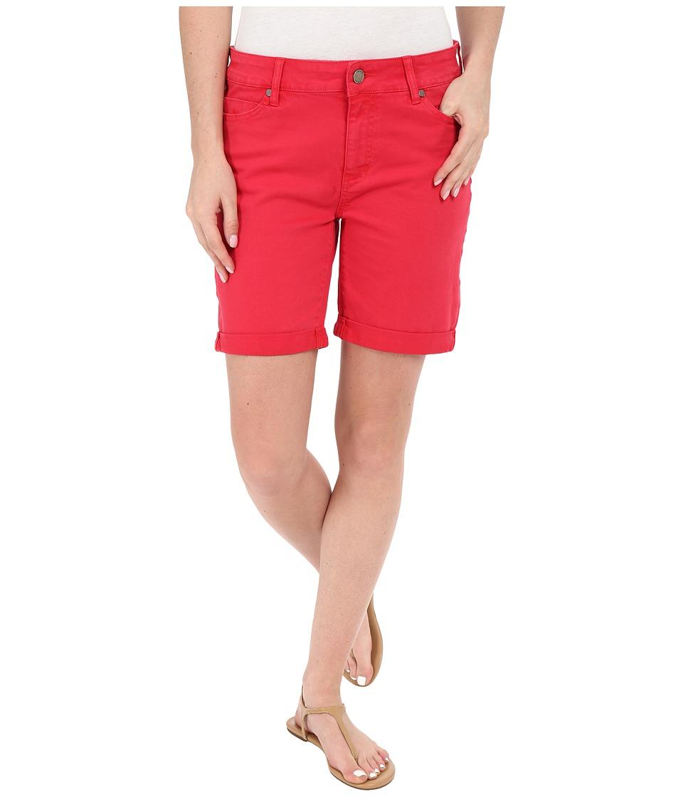 Liverpool Corine Colored Denim Shorts in Tomato Puree Red Tomato Puree Red Womens Shorts
