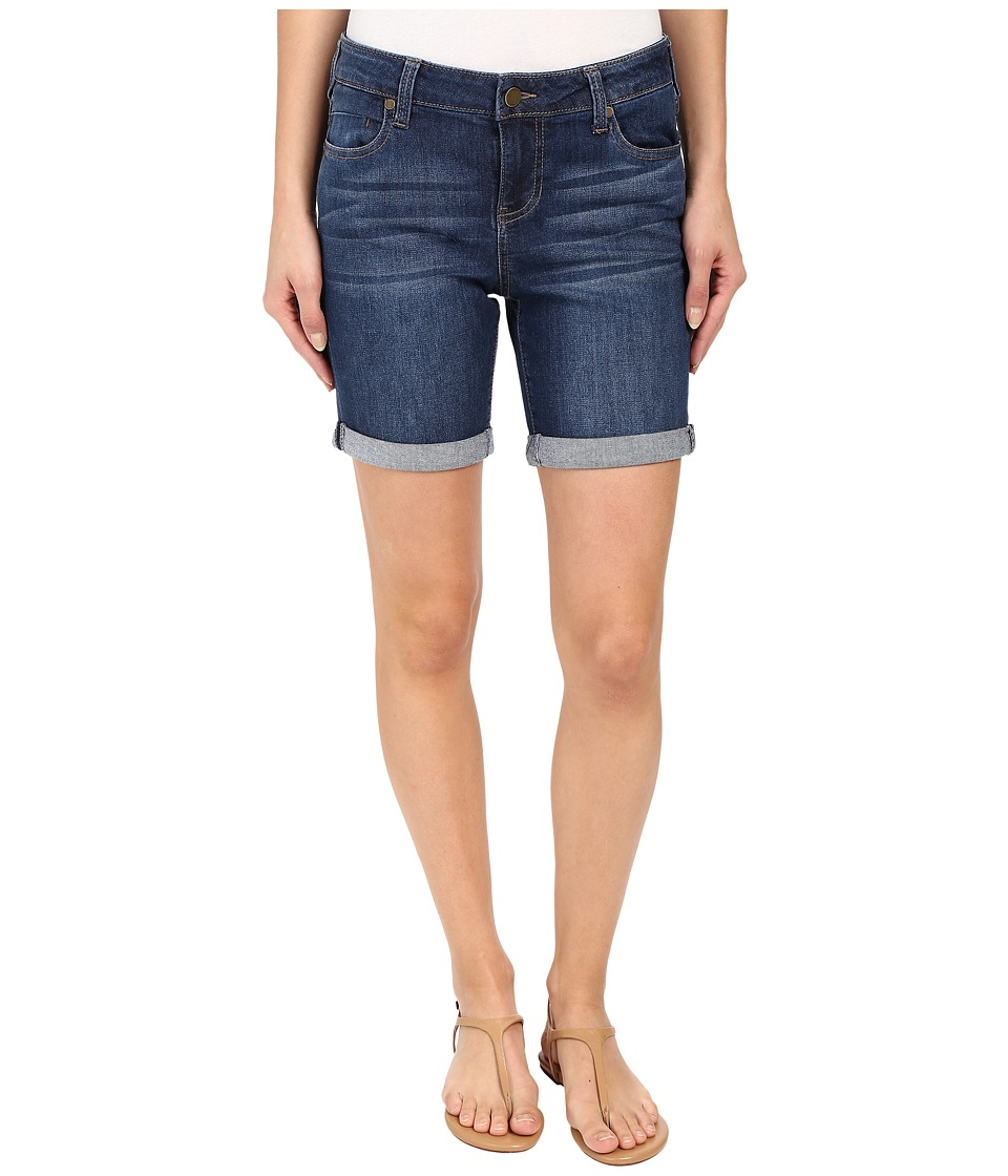 Liverpool - Corine Rolled Denim Shorts in Montauk Mid Blue (Montauk Mid Blue) Womens Shorts