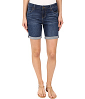 Liverpool - Corine Rolled Denim Shorts in Montauk Mid Blue