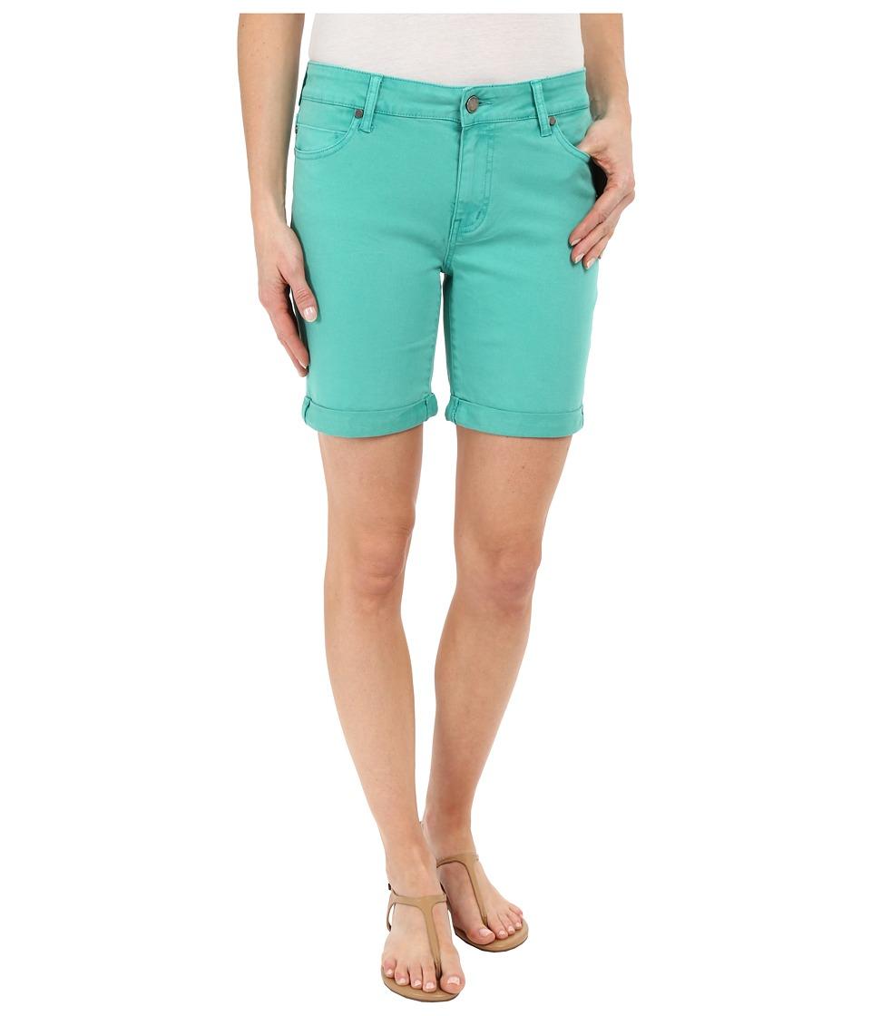 Liverpool Corine Colored Denim Shorts in Aqua Green Aqua Green Womens Shorts