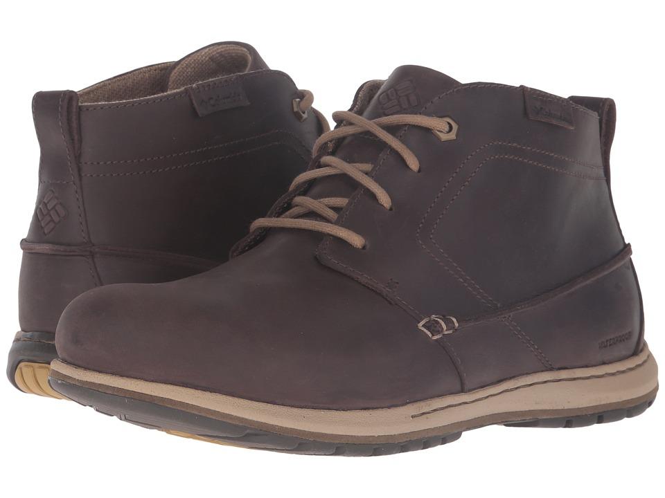 Columbia Davenport Chukka Waterproof Leather (Cordovan/Prairie Sand) Men
