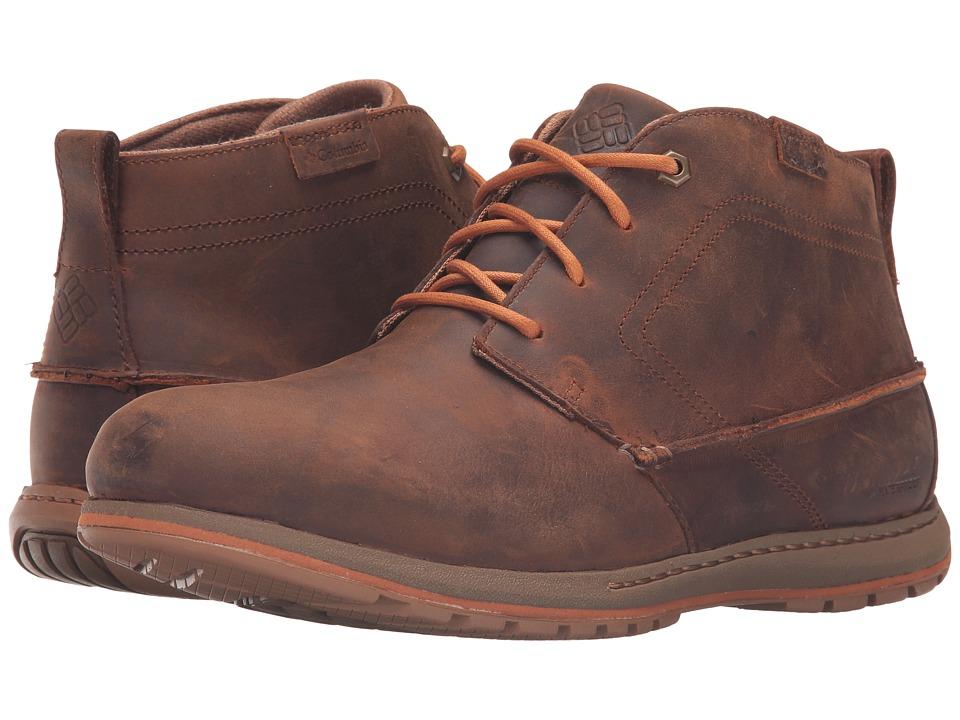 Columbia - Davenport Chukka Waterproof Leather (Elk/Bright Copper) Men