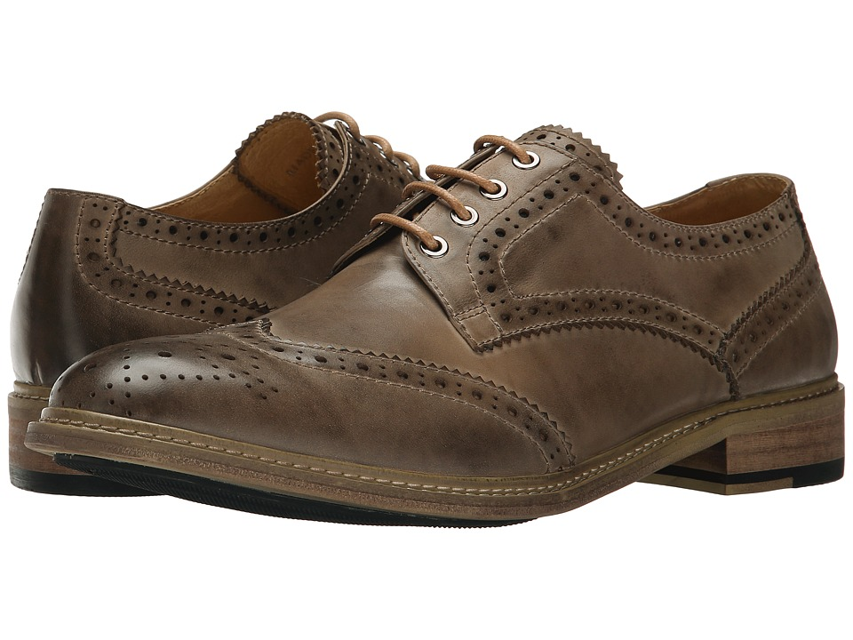 PRIVATE STOCK Vintage Wing Tip Grey Mens Shoes