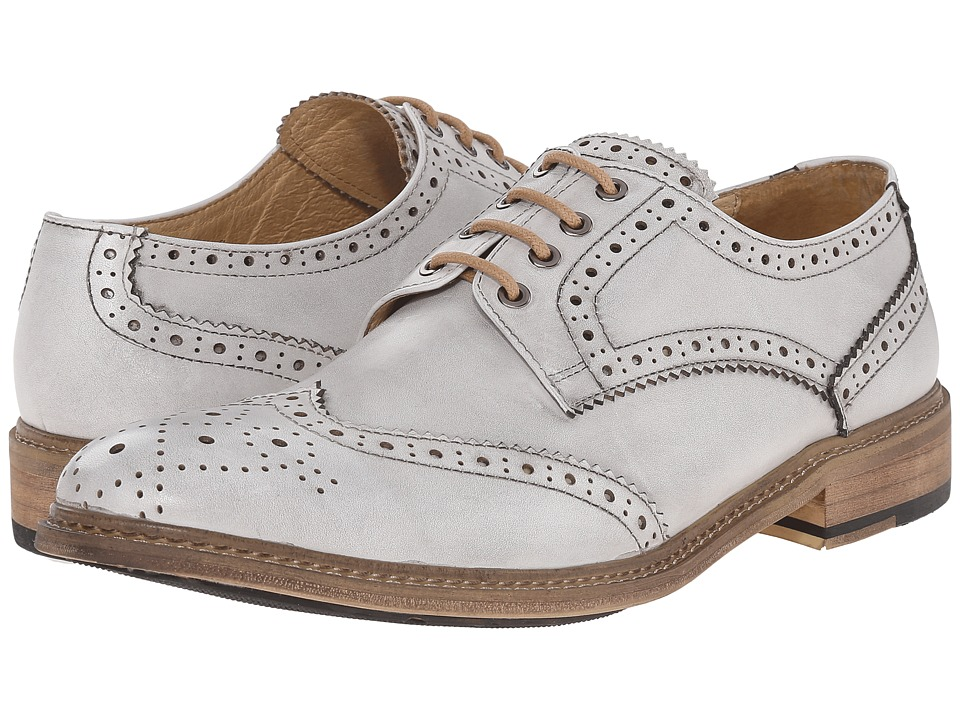PRIVATE STOCK Vintage Wing Tip White Mens Shoes