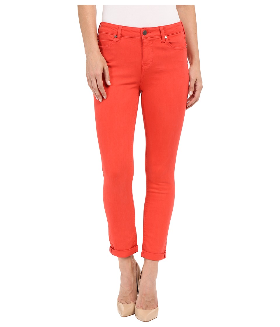 Liverpool Cami Crop Slub Stretch Twill Bittersweet Coral Womens Casual Pants