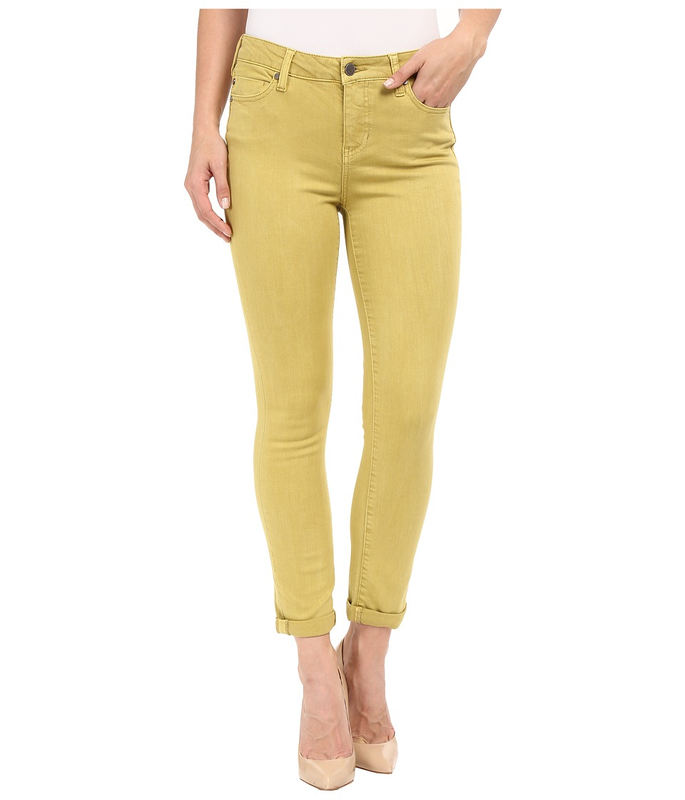 Liverpool Cami Crop Slub Stretch Twill Burnished Gold Womens Casual Pants
