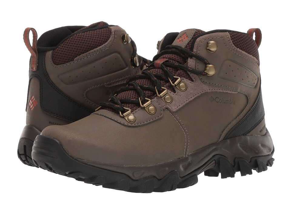 Columbia - Newton Ridge Plus II Waterproof (Mud/Sanguine) Men