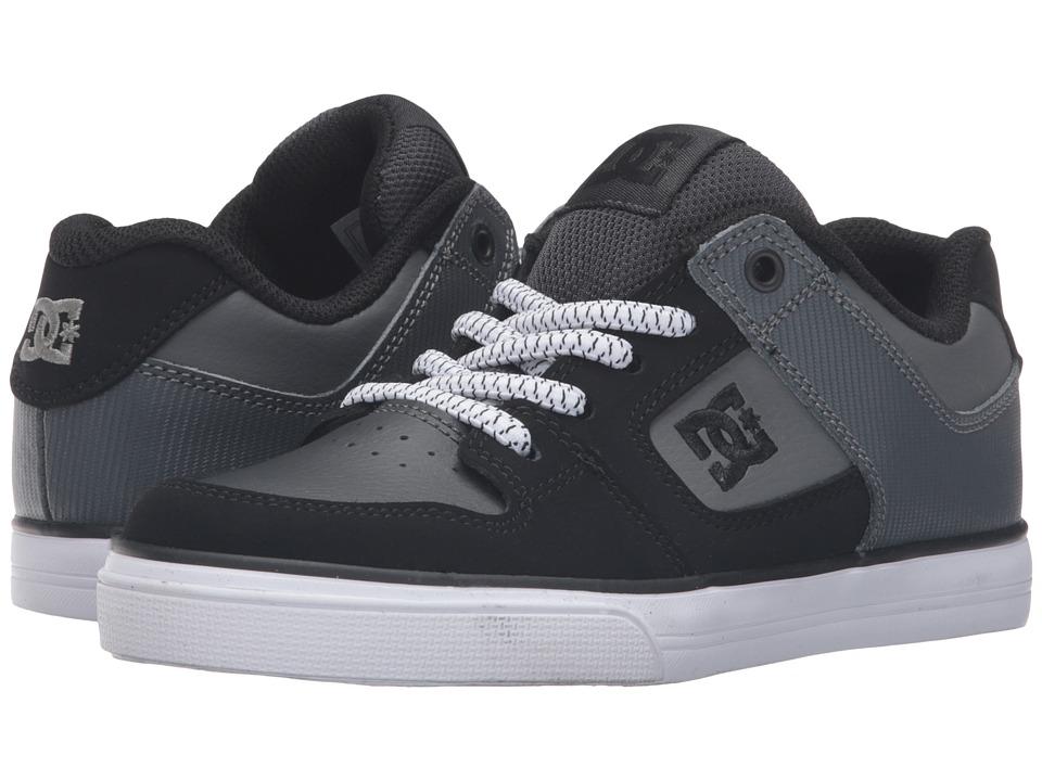 DC Kids - Pure Elastic (Little Kid) (Grey/Black/Grey) Boys Shoes