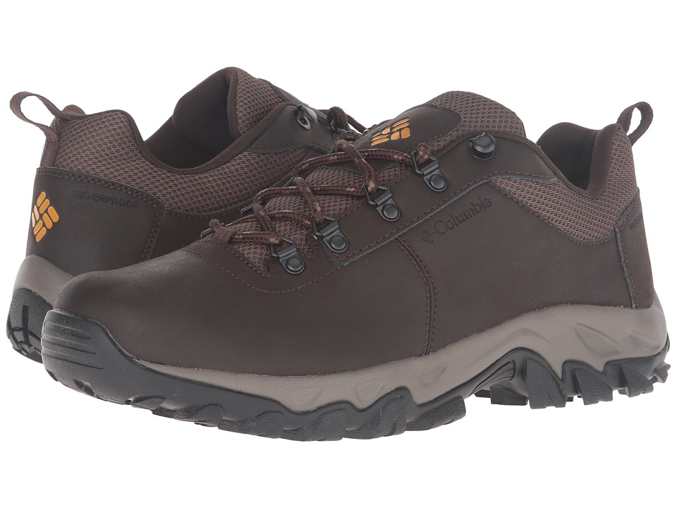 Columbia - Newton Ridge Plus Low Waterproof (Cordovan/Squash) Men