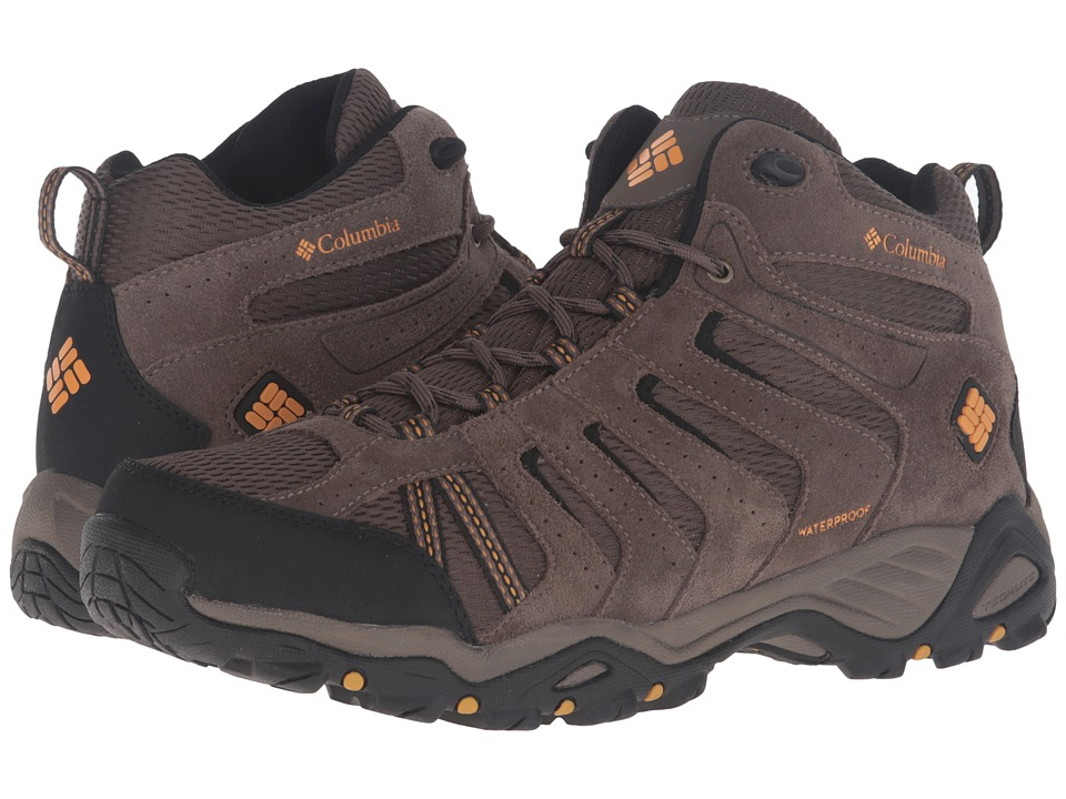 Columbia North Plains II Waterproof Mid (Mud/Squash) Men'...