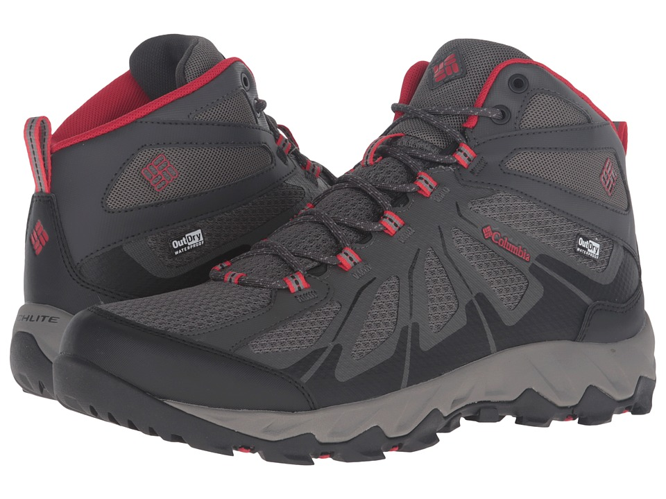 Columbia Peakfreak XCRSN II Xcel Mid Outdry (City Grey/Bright Red) Men
