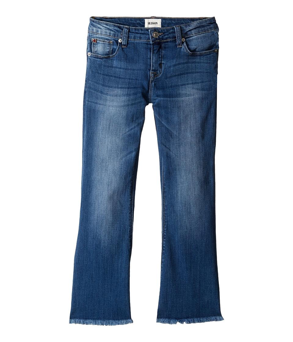 Hudson Kids Annie Flare Crop in Feather Blue Big Kids Feather Blue Girls Jeans