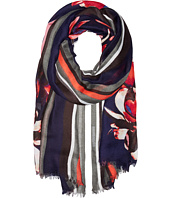 Ivanka Trump - Bold Stripe with Painted Petals Oblong