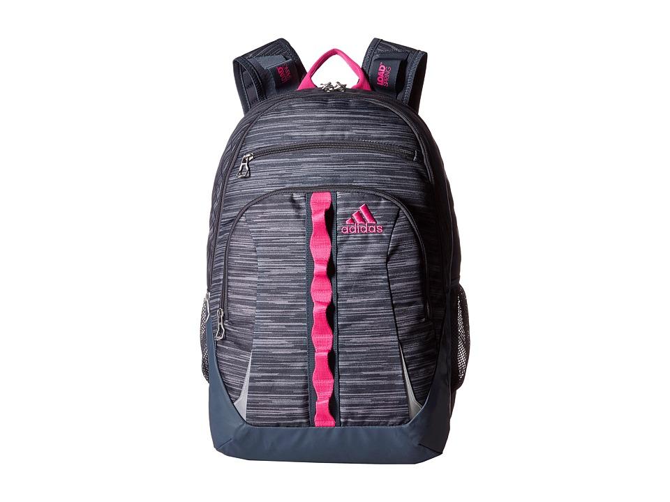 adidas - Prime II Backpack (Space Dye Deepest Space/Shock Pink) Backpack Bags